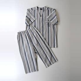 半袖ノーカラーパジャマ【返品不可商品】 (コン)