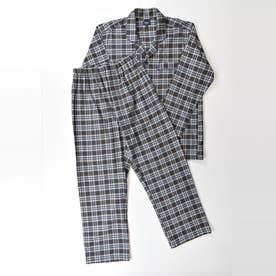 長袖テーラードパジャマ (コゲチャ)