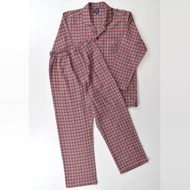 長袖テーラードパジャマ (レンガ)