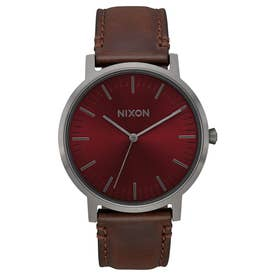 Porter Leather (Gunmetal / Burgundy / Brown)