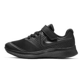 スター ランナー 2 PSV キッズ スニーカー 靴 ジュニア ワンベルト 子供靴 シューズ 子供 男の子 女の子 (ブラック/アンスラサイト(003))