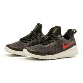 リニュー ライバル メンズ スニーカー シューズ ランニング ジョギング トレーニング ウォーキング ジム AA7400 (ブラック/レッド(016))