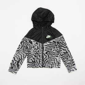 ジュニア ウインドジャケット YTH ガールズ NSW ウィンドランナー AOP ジャケット DA1201010 (ブラック)