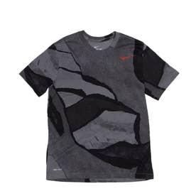 ジュニア 半袖機能Tシャツ DFC シーズナル AOP SU21 S S Tシャツ DA1800-084 (グレー)