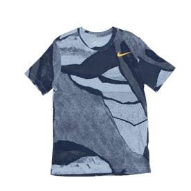 ジュニア 半袖機能Tシャツ DFC シーズナル AOP SU21 S S Tシャツ DA1800-436 (ブルー)