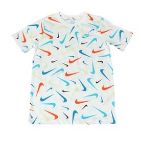 ジュニア 半袖Tシャツ YTH NSW スウッシュ S/S Tシャツ AOP FA21 DJ6637100 (ホワイト)