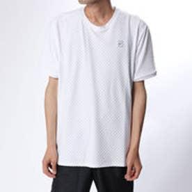 メンズ テニス 半袖Tシャツ ナイキコート チェッカード ベースライン S/S トップ 855279100 (ホワイト)