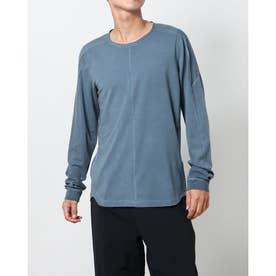 メンズ フィットネス 長袖Tシャツ ヨガ ノーマッド L/S トップ CZ9696437 (ブルー)