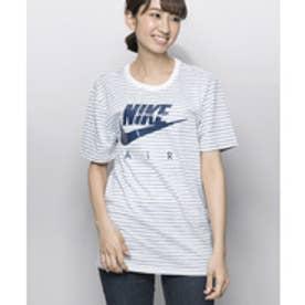 【ピーシーティーP・C・T】ボーダー×NIKEロゴジャスト丈Tシャツ/ AM90 TB Tシャツ 2 (WHITE/NAVY)