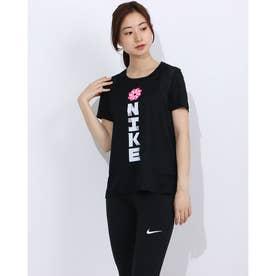 レディース 陸上/ランニング 半袖Tシャツ ウィメンズ アイコンクラッシュ ラン S/S GX CU3051010 (ブラック)