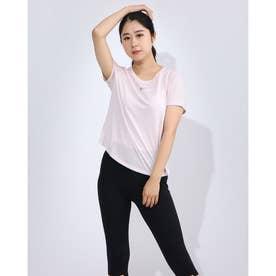 レディース フィットネス 半袖Tシャツ ウィメンズ ランウェイ S/S トップ CU3226699 (ピンク)