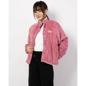 レディース フリースジャケット ウィメンズ プラッシュ バーシティ ジャケット CU6424614 (ピンク)