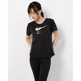 レディース 陸上/ランニング 半袖Tシャツ ウィメンズ スウッシュ ラン SHIN S/S トップ CZ1058010 (ブラック)