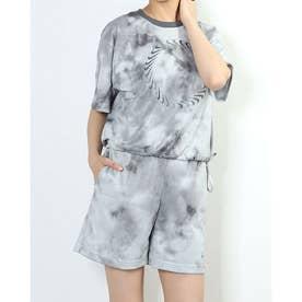 レディース 半袖Tシャツ ウィメンズ NSW アイコン クラッシュ メッシュ S/S トップ AOP CZ9325-084 (グレー)