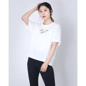 レディース 半袖機能Tシャツ ウィメンズ DRI-FIT ボクシー レインボー S/S Tシャツ DD2849-100 (ホワイト)