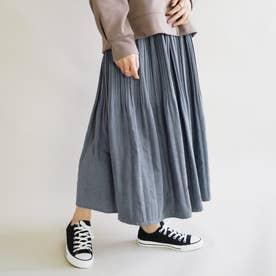 ミジンコール消しプリーツスカート (60ブルー)