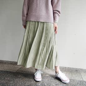 シャイニーサテンスカート (40グリーン)