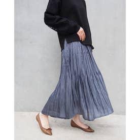 シャイニーサテンスカート (60ブルー)