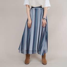 ストライプギャザースカート (67ネイビー)
