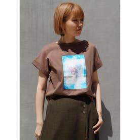プリントTシャツ (13ブラウン)