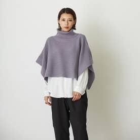 ニットベスト×スタンドシャツSET (80パープル)