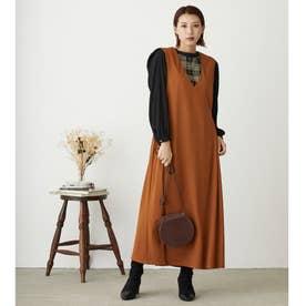 カットソージャンパースカート (15キャメル)