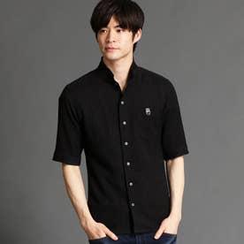 イタリアンカラー5分袖シャツ (49ブラック)