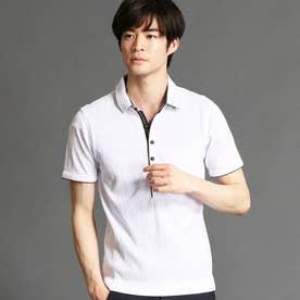 ランダムテレコシルケットポロシャツ (09ホワイト)