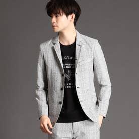 シアサッカーデザインジャケット (09ホワイト)