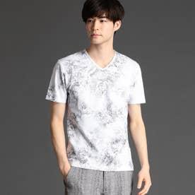 ボタニカルフォイルプリントTシャツ (09ホワイト)