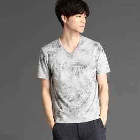 ボタニカルフォイルプリントTシャツ (29グレー)