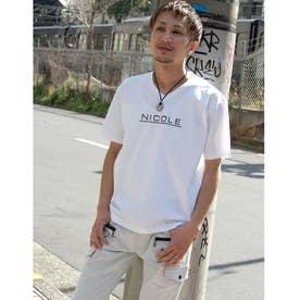 ダブルシルケットロゴプリントTシャツ (09ホワイト)