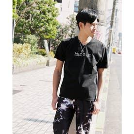 ダブルシルケットロゴプリントTシャツ (49ブラック)