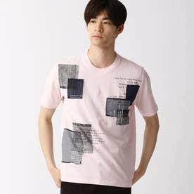 パッチワークTシャツ (08ピンク)