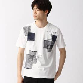 パッチワークTシャツ (09ホワイト)