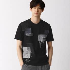 パッチワークTシャツ (49ブラック)
