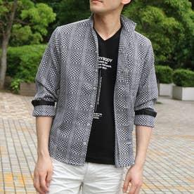 シアードビーチェックシャツ (49ブラック)