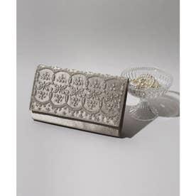 ビーズxパール刺繍3wayクラッチバッグ (モカベージュ) (ベージュ)