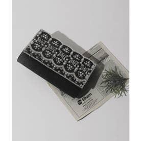 ビーズxパール刺繍3wayクラッチバッグ (ブラック) (ブラック)
