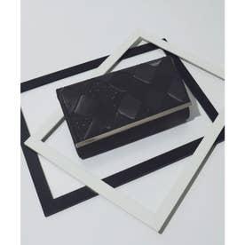 3way 編込みサテンクラッチバッグ (ブラック)