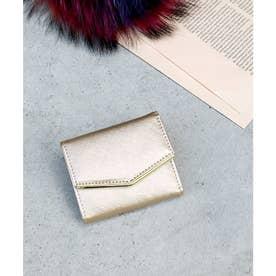 ミニ財布 シンプルミニウォレット (ゴールド)