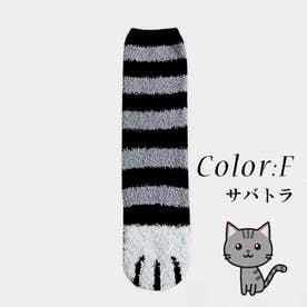 映えるモコモコ肉球ソックス2足セット 全6タイプ あったかい靴下 猫肉球 起毛靴下 (ダ-クグレ-)