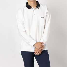 ニブリック NIBLIC メンズポロシャツ(長袖) (WH)