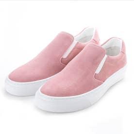 ロゴソールスリッポンスニーカー (ピンク)