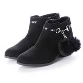 ジュニア ブーツ ファータッセルショートブーツ LS9512 8301 (ブラック)