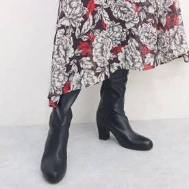 ストレッチロングブーツ (ブラック)