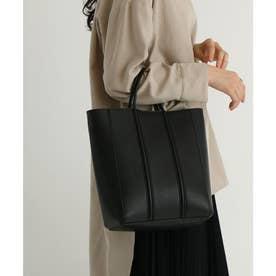 ミニマルデザイントートバッグ (ブラック)
