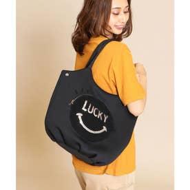 PECHINCHAR フェイスロゴモチーフネオプレーントートバッグ (ブラック)