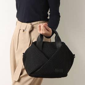 メッシュデザインハンドバッグ (ブラック)