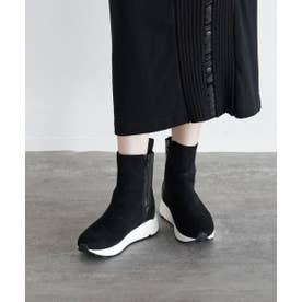 サイドゴアスニーカーブーツ (ブラック)